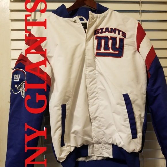 hot sale online 0a03e 3108a AUTH MEN'S NY GIANTS NFL BOMBER JACKET NWT SZ MED Boutique